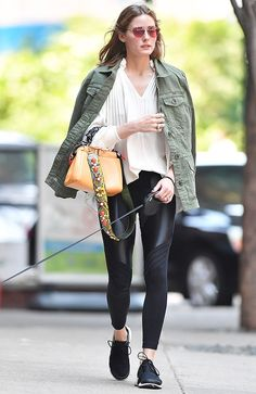 Olivia+Palermo's+Go-To+Leggings+Are+Somewhat+Controversial+via+@WhoWhatWear