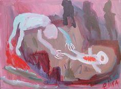 Hiding The Corpse Outsider Art Brut RAW Visionary Naive Elisa etsy seller mondoexpressionism