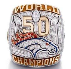 Denver Broncos 2016 Super Bowl Ring - Von Miller - Exquisite Replica Size 9 - Shipped from USA