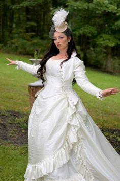 Victorian reproduction steampunk wedding dress: http://ep.yimg.com/ca/I/yhst-1124488091639_2252_13626787 #steampunk #wedding