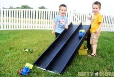 Make a Race Car Track for Outdoors #BountyChallenge