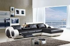 Contemporary Home Interior Modern Home Furniture Leather Sofa