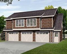 3 Car Garage with Story apartment - storage room upstairs! Garage Plan 45113 - 3 Car Garage Apartment Plan with 1128 Sq Ft, 2 Bed, 1 Bath Best House Plans, Country House Plans, House Floor Plans, Family House Plans, Garage Apartment Plans, Garage Apartments, Barn Apartment, 3 Car Garage, Garage Plans