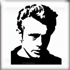 JAMES DEAN STENCIL - reusable stencil  from The Stencil Studio Ltd