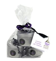 Our Lavender Seasoning Gift Sampler contains tins of our Organic Culinary Lavender, Lavender Herbes de Provence and Lavender Lemon Pepper. These three unique lavender seasonings are ideal for rubs, marinades, sauces and the like.