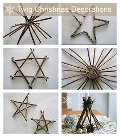 Twig Christmas decorations by http:// www.songbirdblog.com