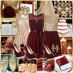 Cranberry and Gold Wedding-Winter Perfect Wedding, Dream Wedding, Wedding Day, Wedding Stuff, Wedding Color Schemes, Wedding Colors, Wedding Themes, Wedding Decorations, Burgundy Wedding