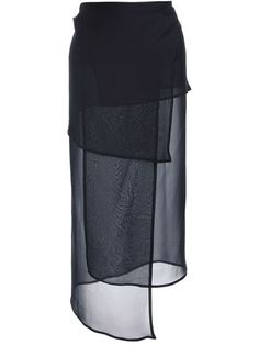 Shop Ann Demeulemeester sheer panel wrap skirt in Feathers from the world's best independent boutiques at farfetch.com. Over 1000 designers from 60 boutiques in one website.