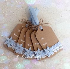 Christmas Tags Handmade, Christmas Crafts To Make, Homemade Christmas Cards, Handmade Gift Tags, Handmade Christmas Decorations, Christmas Gift Tags, Opera, Wrapping, Embellishments