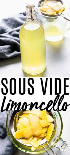 This Sous Vide Limoncello recipe creates delicious limoncello in just 2 hours instead of the 3 weeks it would normally take. Make quick limoncello using just three ingredients with this simple recipe. Limoncello Recipe, Homemade Limoncello, Limoncello Drinks, Sous Vide Cooking, Easy Cooking, Cajun Cooking, Sous Vide Dessert, Make Simple Syrup, Lemon Desserts