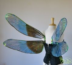 Large Dragonfly Iridescent fairy wings in your choice of colors, painted or un-painted