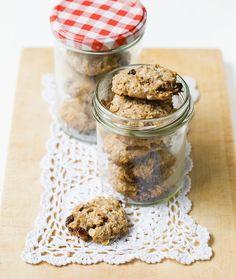 Bananen-Cookies mit Nüssen und Haferflocken…
