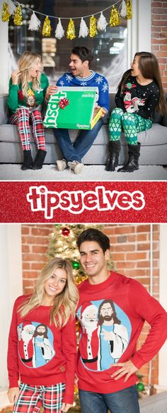 Be the life of the party with our 100+ hilarious men's and women's ugly Christmas sweater designs. Use code: PINTEREST to get 20% off your order!