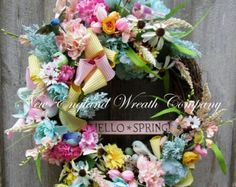 Floral Wreath Cottage Chic Nantucket Roses Wedding Summer