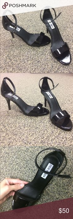 Steve Madden Strap Heels BRAND new Steve Madden strappy heels without tags! Perfect condition, were just too tight on me. 😭 They're a 7.5 and I'm an 8 so they're true to size. Steve Madden Shoes Heels