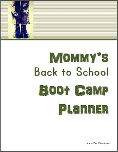 Mommy's Back to School Bootcamp printable planner for Homeschool Moms
