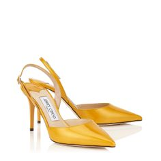 Jimmy Choo - Tilly - 144tillysez - Sun Shiny Enamel Patent Sling Backs