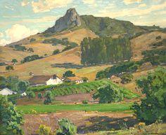 William Wendt (1865-1946). The Vineyard. Oil on Canvas.