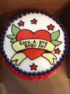 Tattoo themed Baby Shower Cake