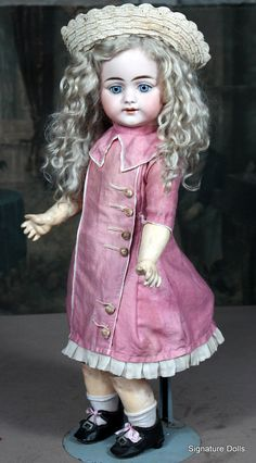 Simon Halbig 719 German Child Doll from ~ SIGNATURE DOLLS ~ found @Doll Shops United http://www.dollshopsunited.com/stores/Signaturedolls/items/1301408/Simon-Halbig-719-German-Child-Doll/enlargement3 #dollshpsunited