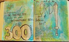 Bible art journaling Judges 7, Gideon Gideon Bible, Bill Gates, Bible Verse Art, Old Testament, Bible Crafts, Crafts For Girls, Gods Love, Change, Bible Journal
