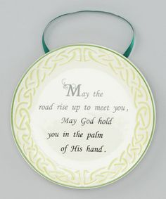 Take a look at this Shamrock Celtic Blessing Plate by Roman, Inc. on #zulily today!
