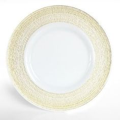 Amazon.com: Charge it by Jay Round White Glass with Gold Rim Charger Plate: Kitchen & Dining