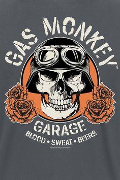 Gas Monkey Garage, Gaz Monkey, Mexico Tattoo, Richard Rawlings, Garage Logo, Motorcycle Logo, Vintage Metal Signs, Us Cars, Grey Cats