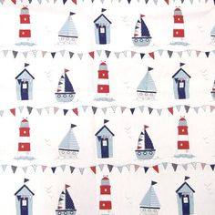 This Dunlem Mill Maritime Fabric would look great as baby boy bunting.