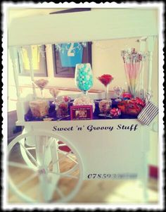 Birthday Party Sweet Cart Candy Buffet Hire #Manchester  #jellybabies #jelly #babies #haribo #sweetcart #hire #event #celebration #sweet #cart #Candy #red #black #white #vintage #Buffet #party #wedding #manchester #sweetngroovystuff #christening #21st #40th For all occasions, make your party memorable www.facebook.com/sweetngroovystuff