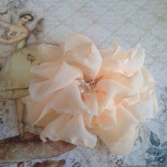 hand made fabric flowers Shabby chic flowers by customcardsbysarah