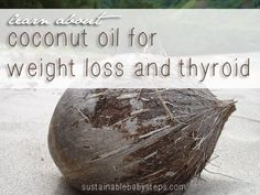 Learn exactly how virgin coconut oil can help with healing the thyroid and natural weight loss. - via SustainableBabySteps.com