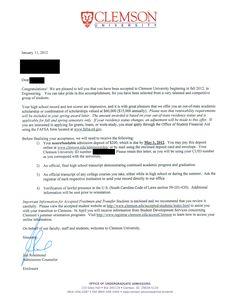 UD Acceptance Letter