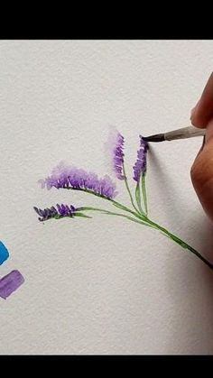 Watercolor Flowers Tutorial, Watercolour Tutorials, Floral Watercolor, Simple Watercolor Flowers, Watercolor Pencil Art, Watercolor Video, Watercolor Paintings For Beginners, Watercolor Art Lessons, Watercolor Projects