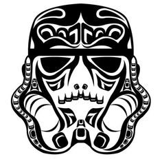 Vector Storm Trooper with inspired Northwest Native American art