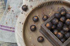 Chilli Spice Truffle in dark chocolate. Hand-made artisan chocolate by Bennetts of Mangawhai. Chilli Spice, Artisan Chocolate, Truffles, Chocolates, Blueberry, Spices, Fruit, Dark, Handmade