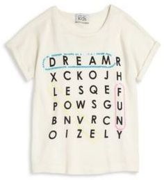 Autumn Cashmere Girl's Boxy Word Find Tee