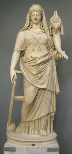 La Diosa Fortuna, Roman copia de Museos griegos originales, Vaticano