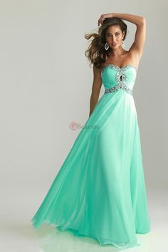 Pretty Prom Dresses 2013 New Arrival Blue A Line Sweetheart Chiffon Floor Length online shop affordable for fashion