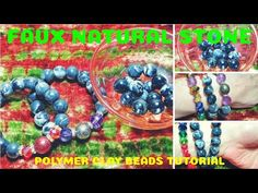 Faux natural stone beads! No one will believe they are polymer clay and SO EASY!!!