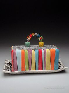 Charity Hofert Butter Dish at MudFire Gallery