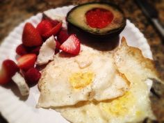 Eggs, Coconut, Berries, and Avocado with Salmon Roe: 10/6/13