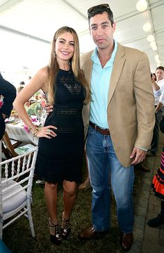 Sofia Vergara & fiance Nick Loeb attended the 38th Annual Hampton Classic Horse Show in NY on Sept.1,2013