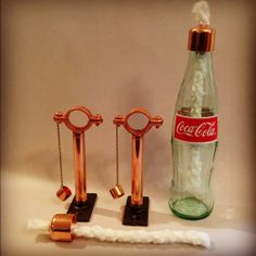 Set Of 6 Copper Soda/Beer Bottle Tiki Torch Mounting Hardware Kits - Hanging Lantern, Hurricane Lantern, Oil lamp, Wine Bottle Tiki Torch