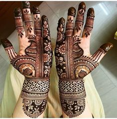 Bridal Henna Mehndi Designs for Full Hands Latest Bridal Mehndi Designs, Full Hand Mehndi Designs, Arabic Henna Designs, Mehndi Designs 2018, Modern Mehndi Designs, Dulhan Mehndi Designs, Mehndi Designs For Fingers, Wedding Mehndi Designs, Mehndi Design Pictures
