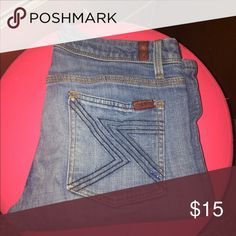For all man kind bootcut jeans Used but good condition For all man kind jeans 7 For All Mankind Jeans Boot Cut
