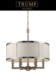 """View the Elk Lighting 20154/6 23.5"""" Height 6 Light 1 Tier Chandelier with a Drum Shade from the Seven Springs Collection at LightingDirect.com."""