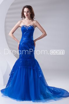 Bridesmaid Dresses/Prom Dresses/Cocktail Dresses/Wedding Dresses/Evening Dresses/Homecoming Dresses Trumpet/Mermaid Sweetheart Sleeveless Natural Lace-up Chapel TRAIN Sequined/Tulle Beading/Sequins