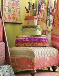Papier-Mache Cake at Digs Cake Decorating, Interior Decorating, Diy Birthday Cake, Hat Boxes, Take The Cake, Tiny Treasures, Craft Organization, How To Make Cake, Decorative Boxes
