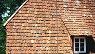 A wider view of hand made clay roof tiles. Tile Design, Design Art, Clay Roof Tiles, Old World Charm, Light Art, Bliss, River, Antiques, Wood